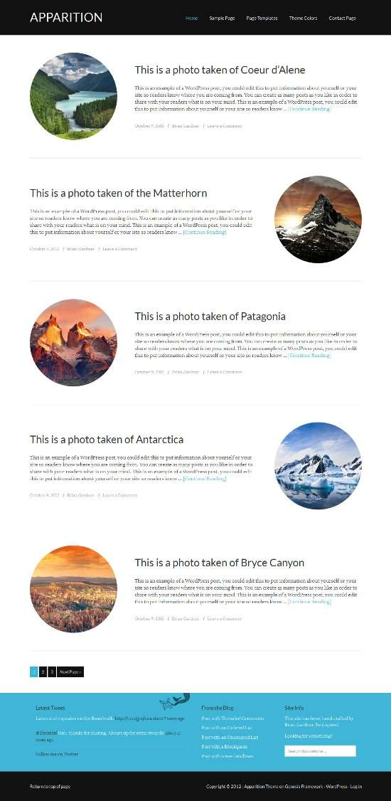 apparition studiopress avjthemescom 01 - Apparition WordPress Theme