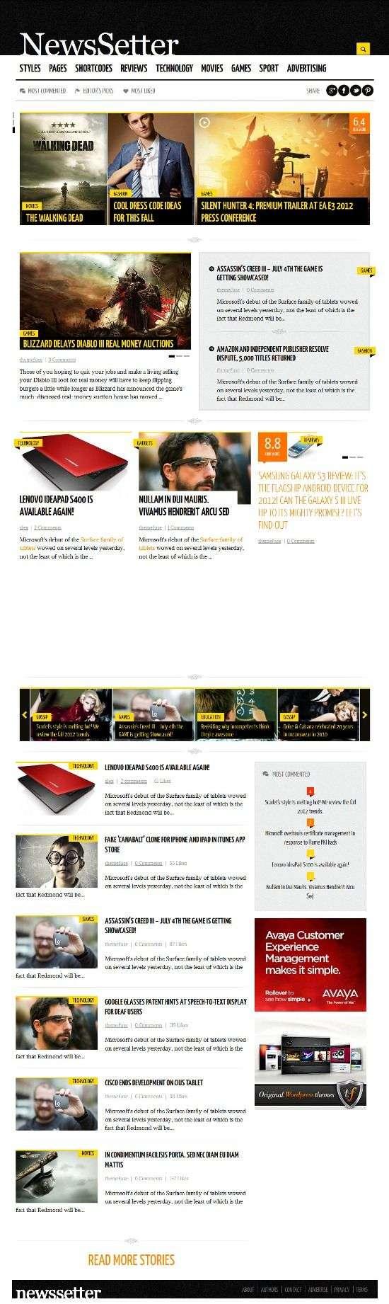newssetter themefuse avjthemescom 1 - Newssetter WordPress Theme