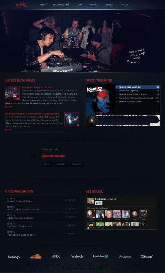 night music foxhound avjthemescom 1 - Night Music WordPress Theme