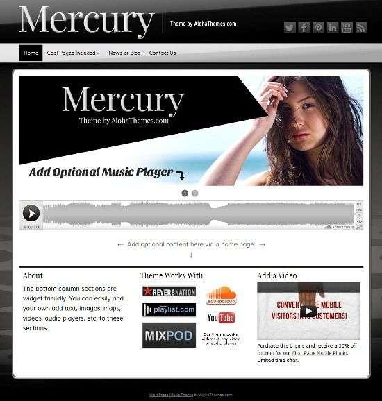 mercury alohathemes avjthemescom 01 - Mercury WordPress Theme