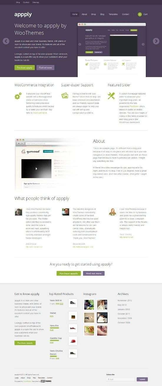 apply woothemes avjthemescom 01 - Apply WordPress Theme