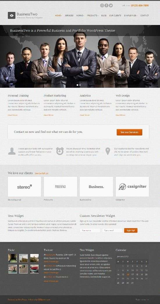businesstwo cssigniter avjthemescom 01 - BusinessTwo WordPress Theme