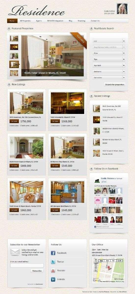 residence gorillathemes avjthemescom 01 - Residence WordPress Theme