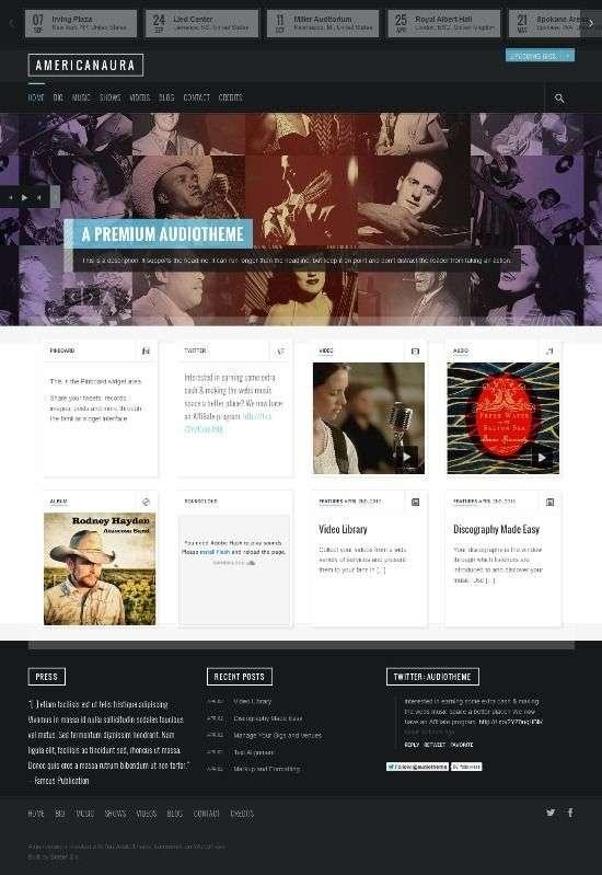 americanaura audiotheme avjthemescom 01 - Americanaura WordPress Theme
