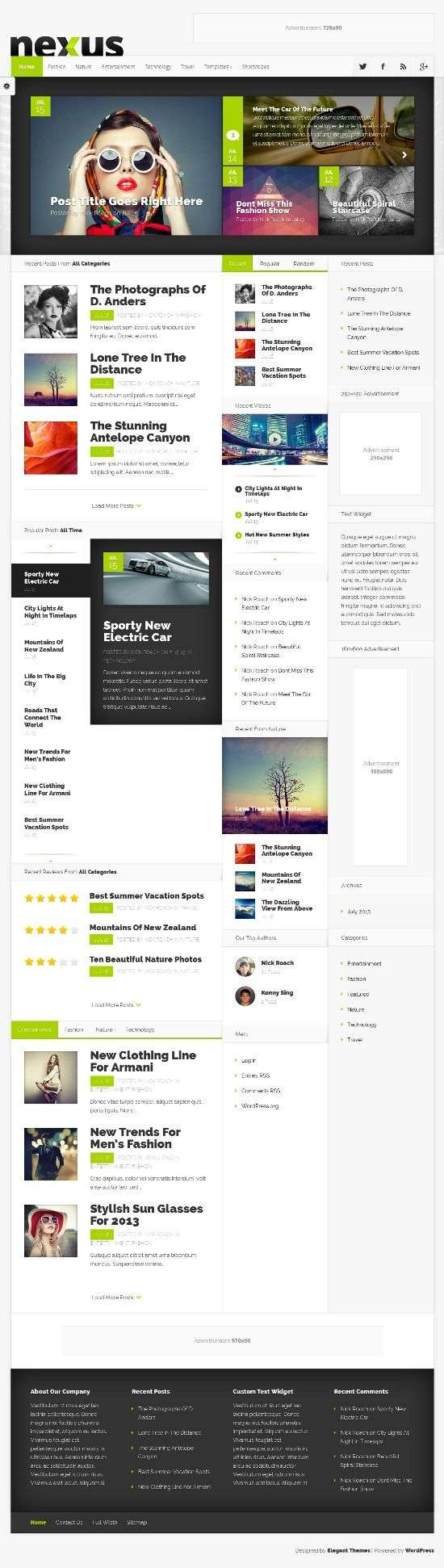 nexus elegantthemes avjthemescom 01 - Nexus WordPress Theme