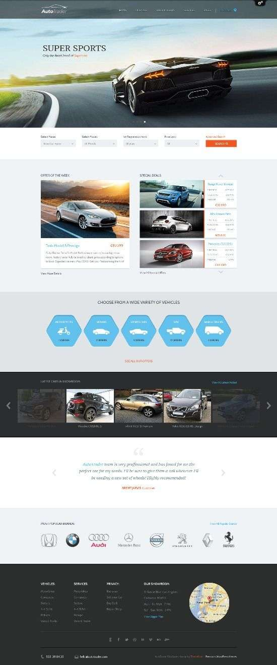 autotrader themefuse avjthemescom 01 - AutoTrader WordPress Theme