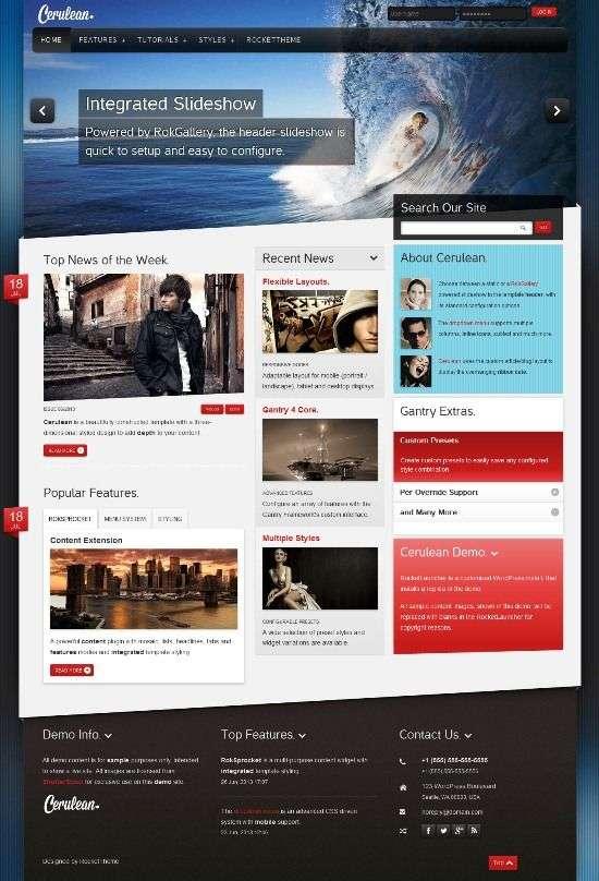 cerulean rockettheme avjthemescom 01 - Cerulean WordPress Theme
