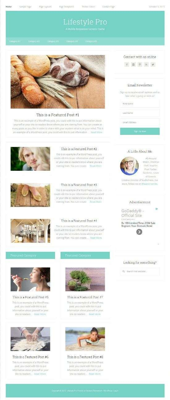 lifestyle pro studiopress avjthemescom 01 - Lifestyle Pro WordPress Theme