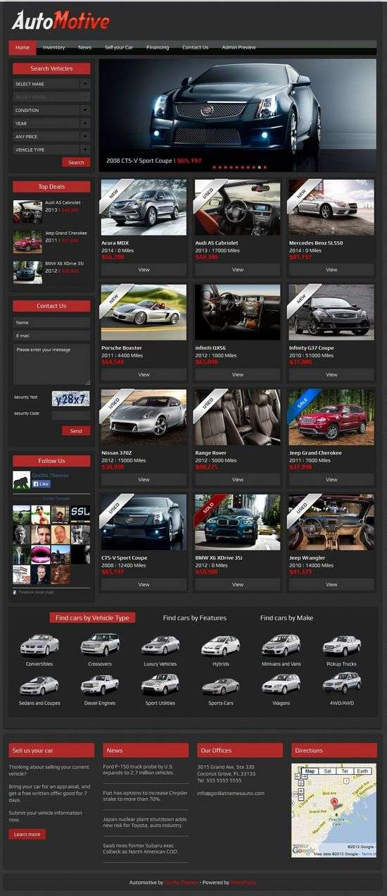 automotive gorilla themes avjthemescom 1 - Automotive WordPress Theme