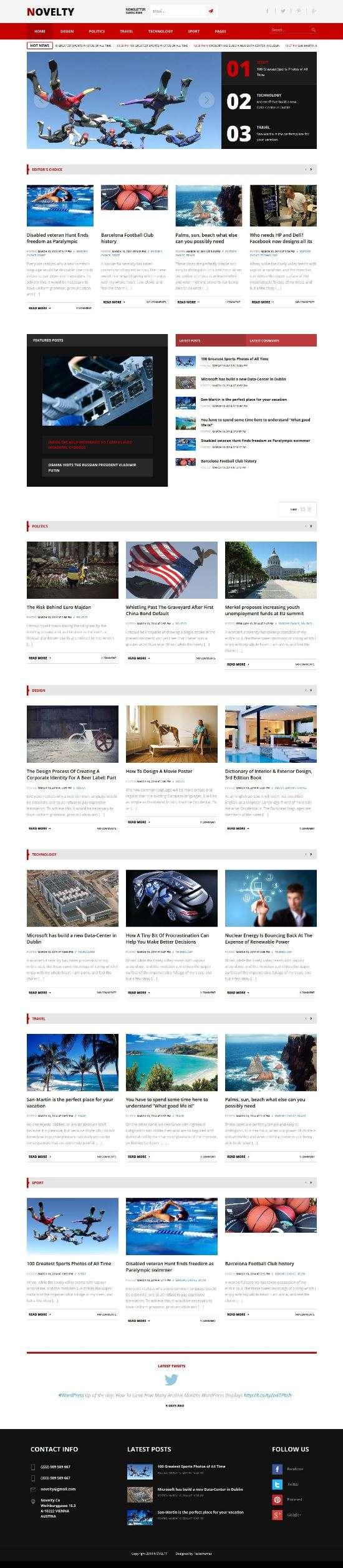 novelty magazine teslathemes 01 - Novelty WordPress Theme