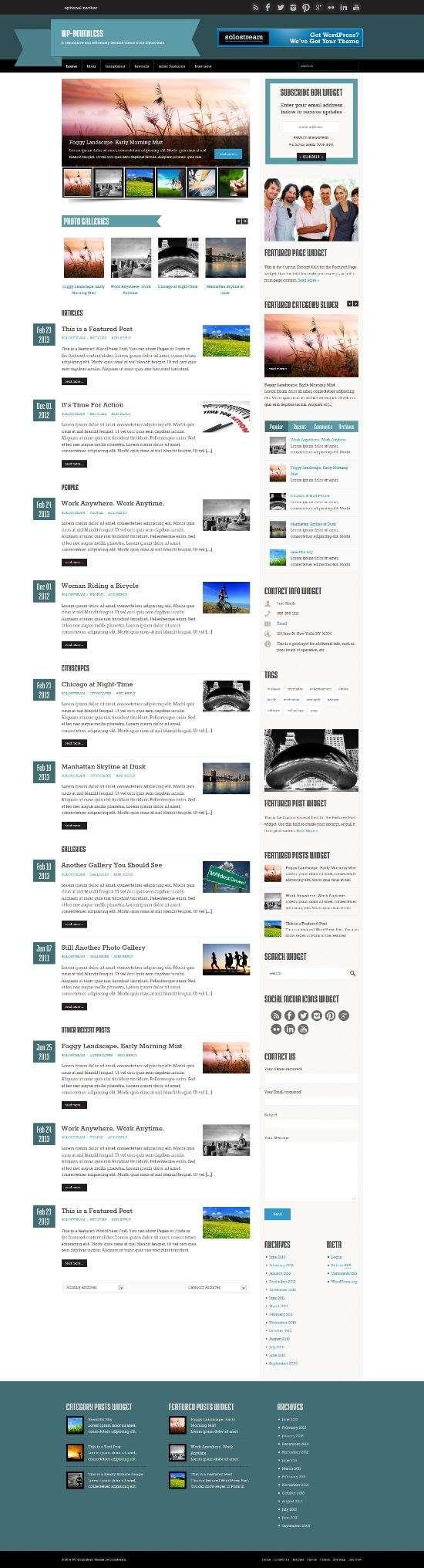 wp boundless solostream blog magazine - WP-Boundless WordPress Theme