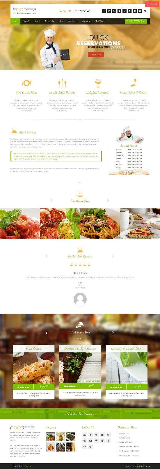 foodeez restaurant sketch themes 01 - Foodeez WordPress Theme