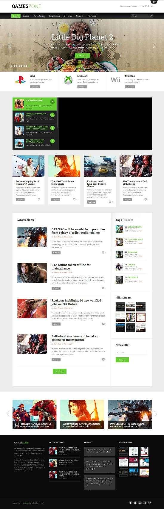 gameszone themefuse avjthemescom 01 - Gameszone WordPress Theme