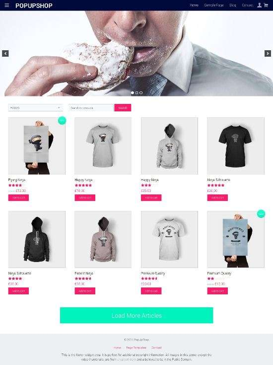 popupshop richwp avjthemescom 01 - Pop Up Shop WordPress Theme