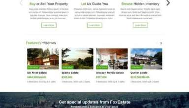 fox estate colorlabsproject real estate 01 - Fox Estate WordPress Theme