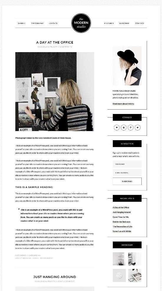 the modern studio–studiopress wordpress 01 - the-modern-studio–studiopress-wordpress-01