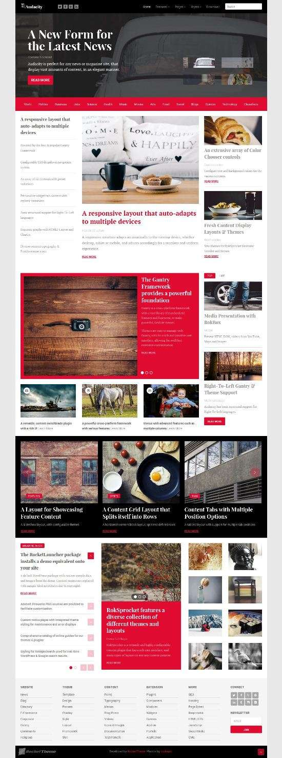 audacity rockettheme wordpress theme 01 - Audacity WordPress Theme