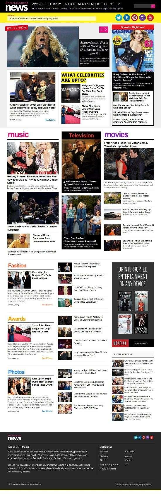 entertainment news magazine3 wordpress theme 01 - Entertainment News WordPress Theme