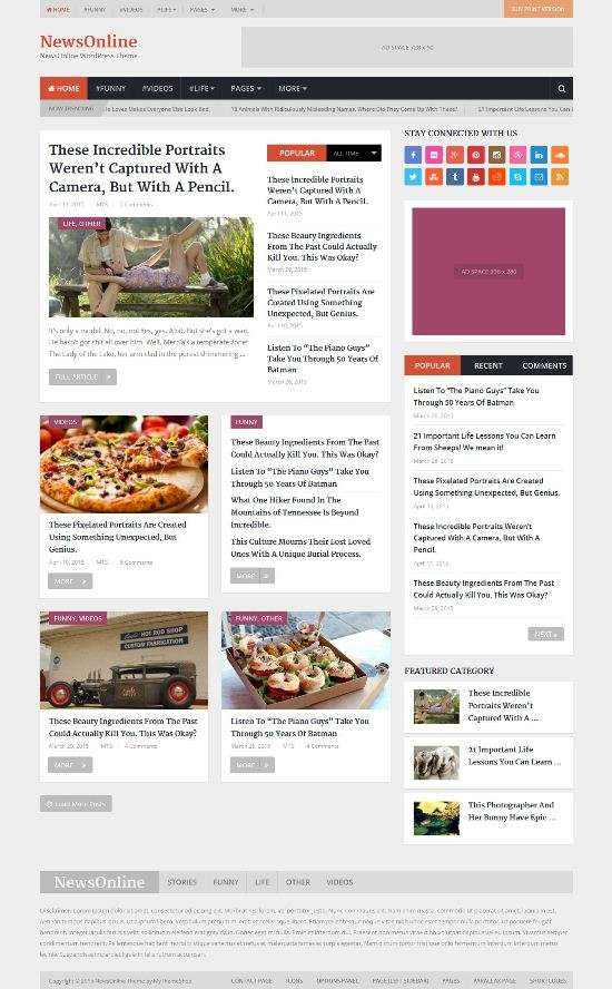 newsonline mythemeshop news theme 01 - NewsOnline WordPress Theme