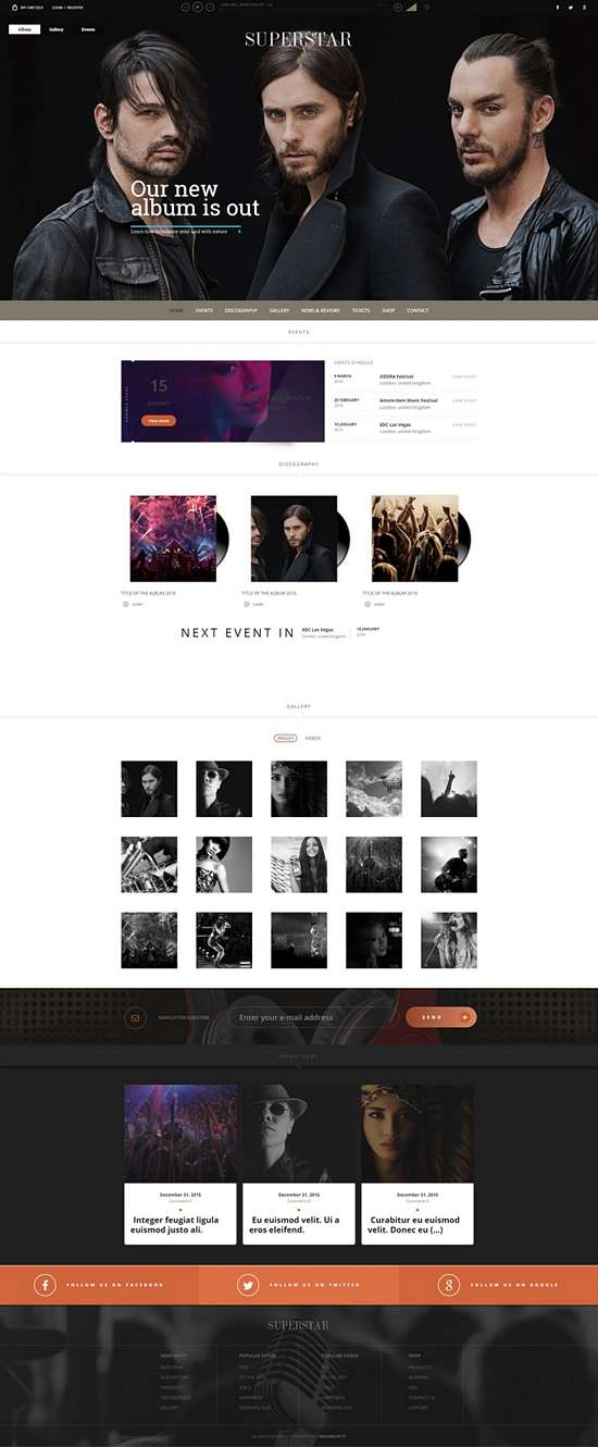 superstar tesla theme music niche 01 - Superstar WordPress Theme