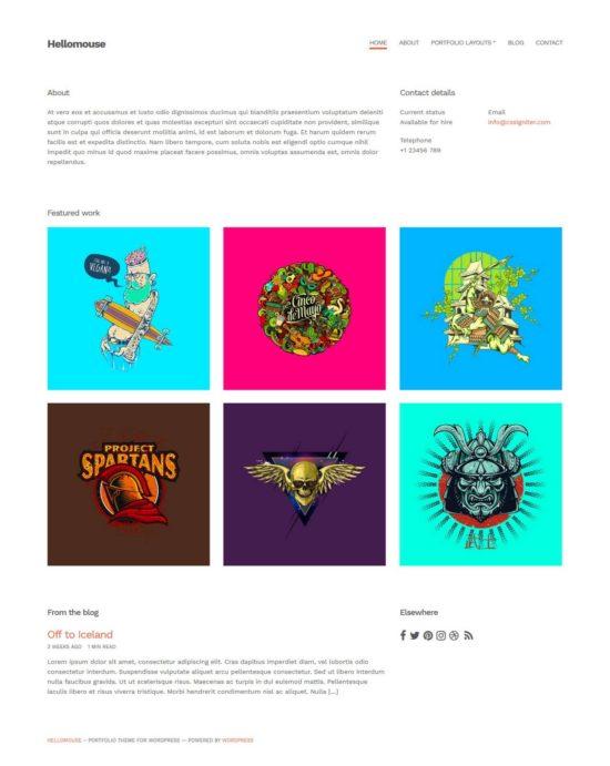 hellomouse wordpress cssigniter theme 01 550x691 - HelloMouse WordPress Theme