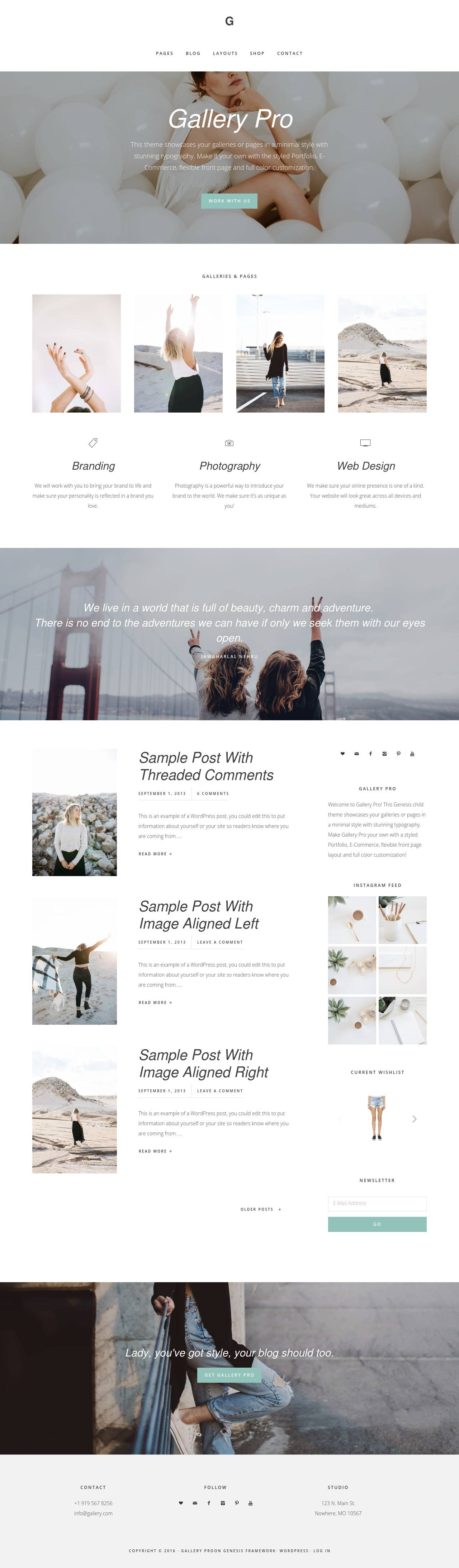 gallery pro studiopress wordpress theme 01 - gallery-pro-studiopress-wordpress-theme-01