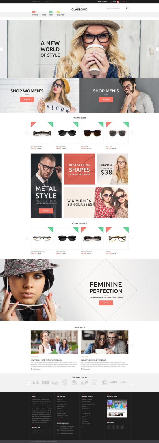 glassonic templatemonster magento theme 01 550x1533 - Glassonic Magento Theme