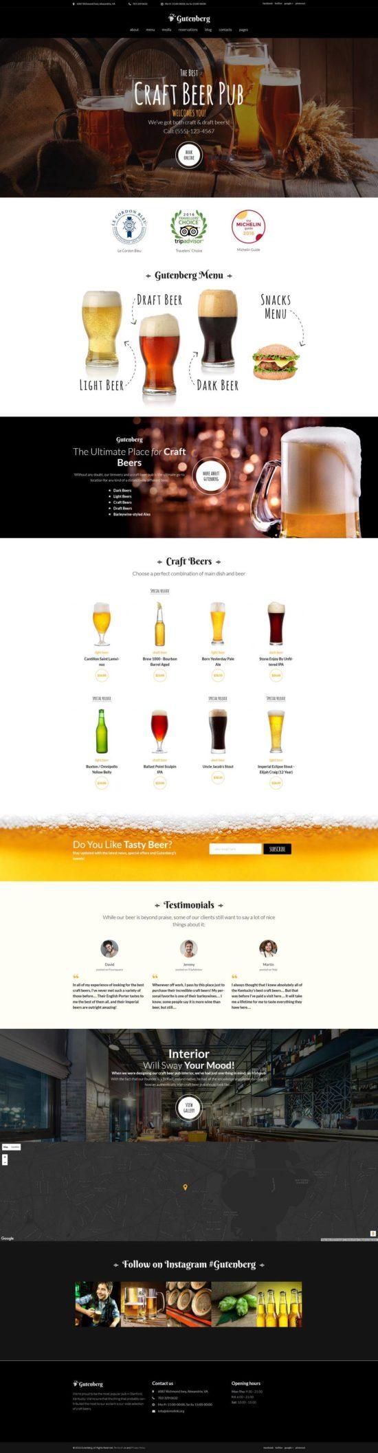 gutenberg templatemonster wordpress theme 01 550x2114 - GutenBerg WordPress Theme