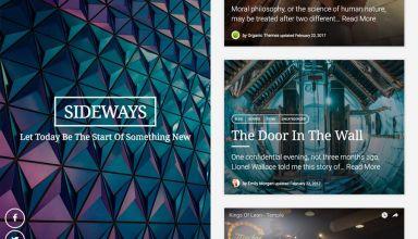 sideways organic wordpress theme 01 - Sideways WordPress Theme