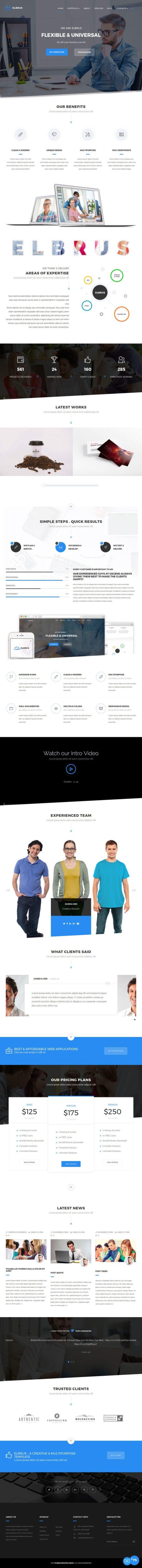 elbrus template monster wordpress theme 01 550x6087 - Elbrus WordPress Theme