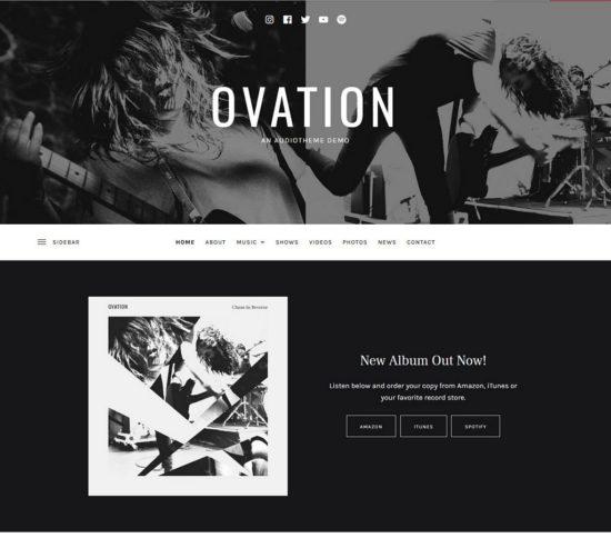 ovation audiotheme wordpress theme 01 550x484 - Ovation WordPress Theme