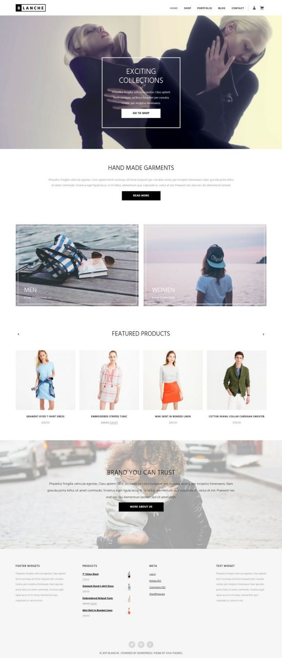 blanche viva themes wordpress themes 01 - Blanche WordPress Theme