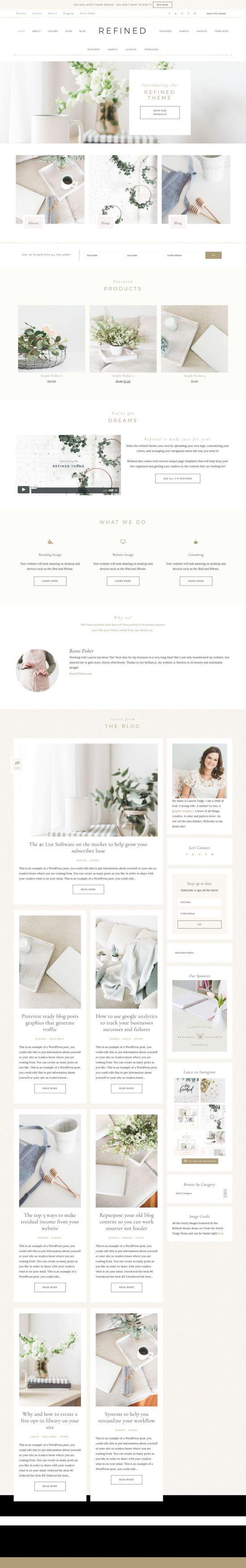 refined restored designs wordpress theme 01 - Refined Genesis WordPress Theme