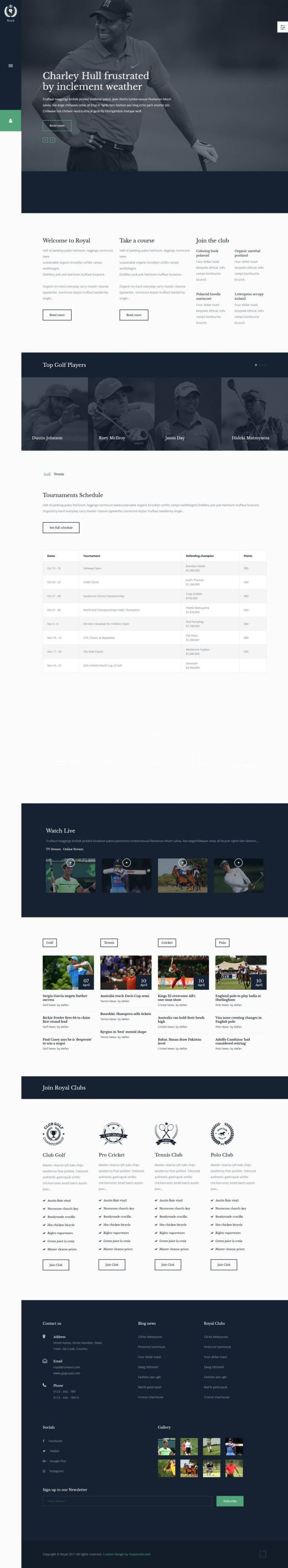 royal sports you joomla template 01 - Royal Sports Joomla Template