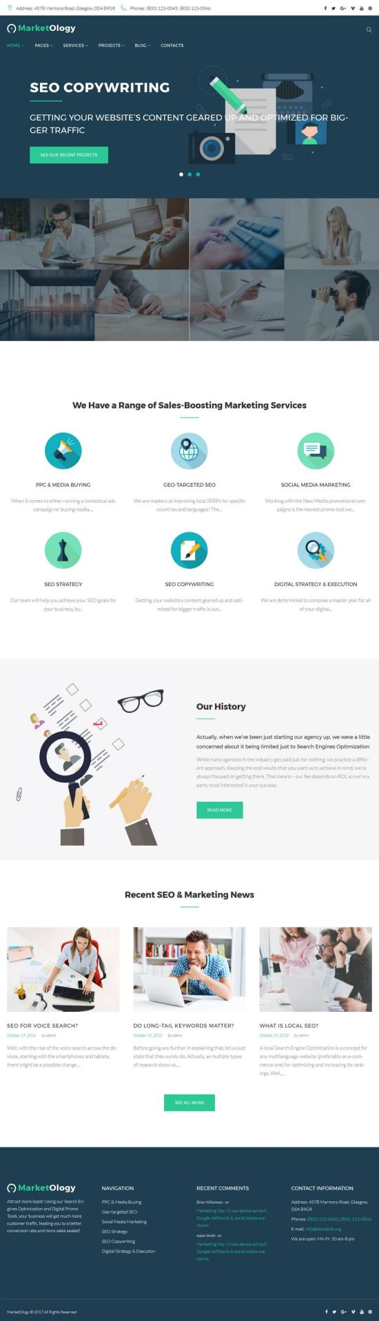 marketology templatemonster–wordpress theme 01 - MarketOlogy WordPress Theme
