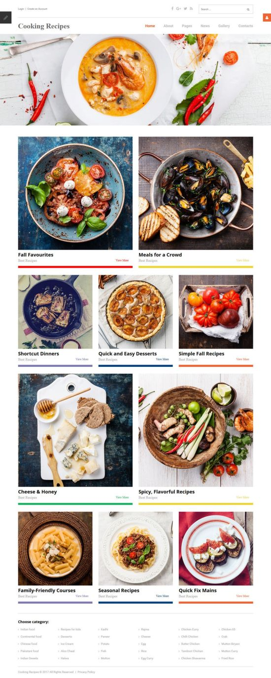 Cooking Recipes Joomla Template