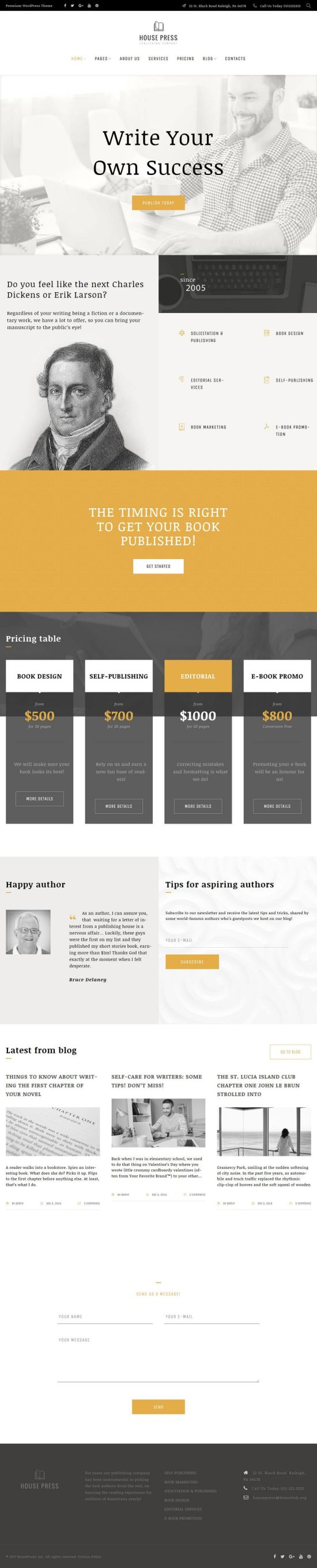 housepress wordpress templatemonster theme 01 - HousePress WordPress Theme