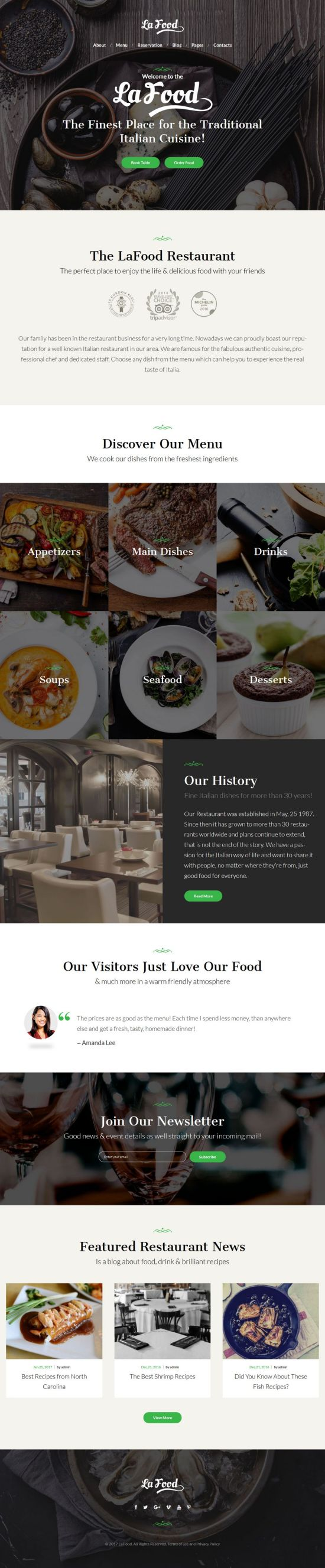 La Food WordPress Theme
