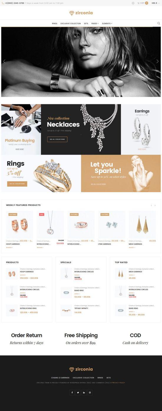 zirconia wordpress woocommerce theme 01 - Zirconia WordPress WooCommerce Theme