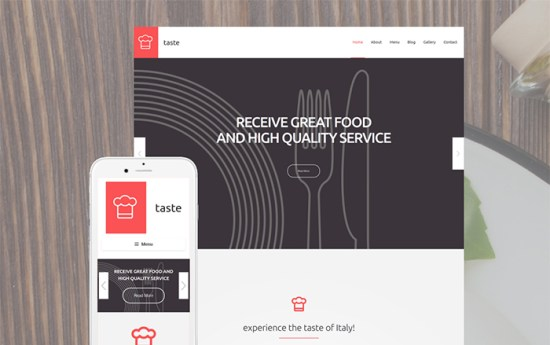 55690 big - Top 20 Food WordPress Themes with Flat Designs 2017
