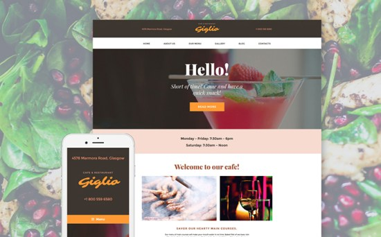 58390 big - Top 20 Food WordPress Themes with Flat Designs 2017