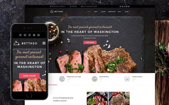 58667 big - Top 20 Food WordPress Themes with Flat Designs 2017