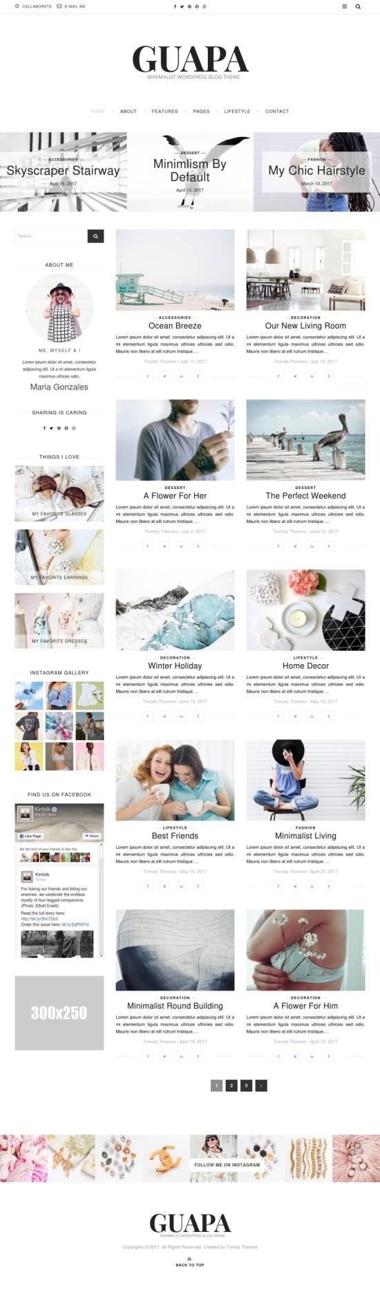 guapa wordpress templatemonster theme 01 - Guapa WordPress Theme