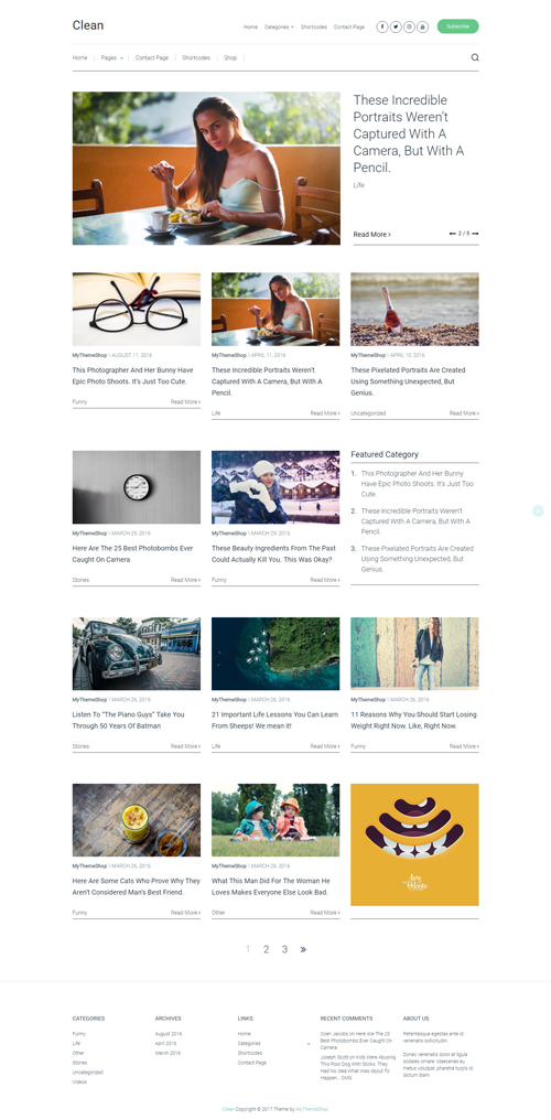mythemeshop clean wordpress theme 01 - MyThemeShop Clean WordPress Theme