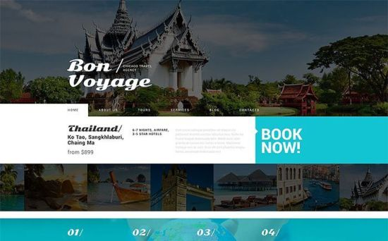 Stylish WordPress Theme for Tour Operator Services