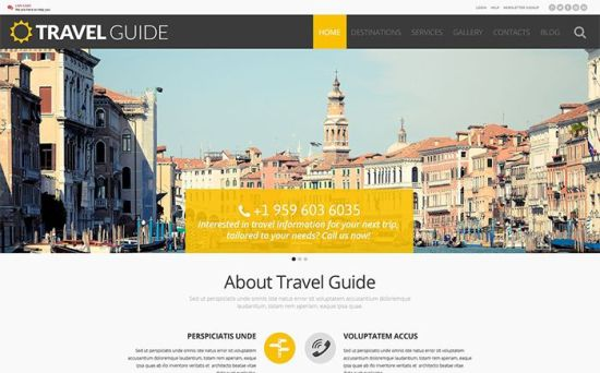 Travel Guide : Excellent Responsive Travel Guide WordPress Theme