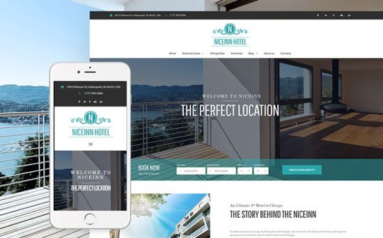 NiceInn – Cute Small WordPress Theme for Hotel