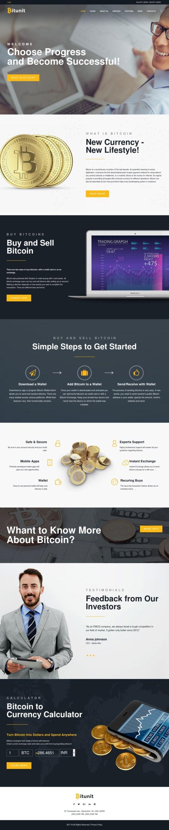 BitUnit WordPress Theme