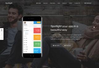 spotlight wordpress app themes 01 - Spotlight WordPress Theme