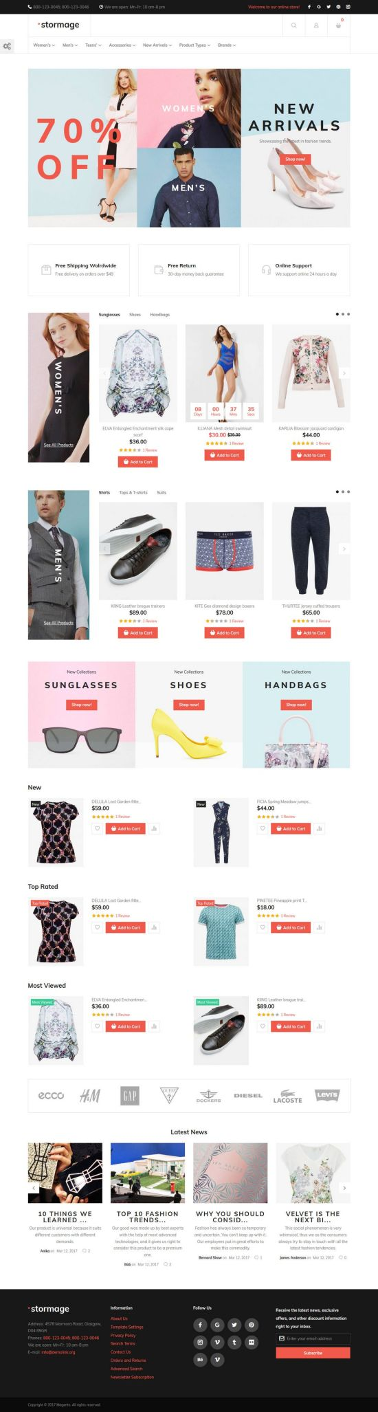 stormage magento templatemonster template 01 - StorMage Magento Theme